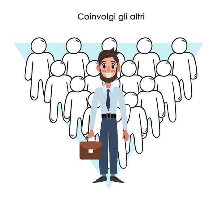 essere leader - coinvolgere gli altri