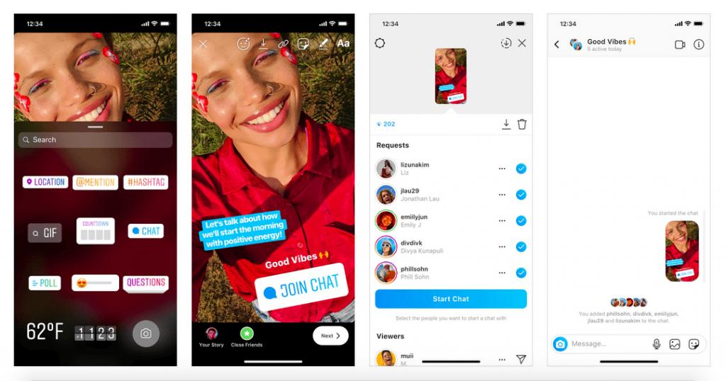 Come funziona la nuova Instagram Sticker Chat per le Storie?
