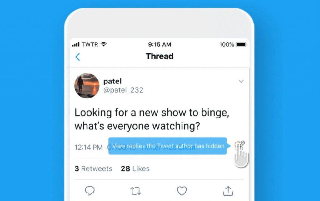 Twitter consente a tutti di nascondere le risposte ai propri tweet
