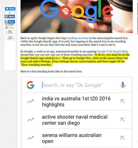Google testa nuove funzioni per evidenziare i contenuti nella Ricerca