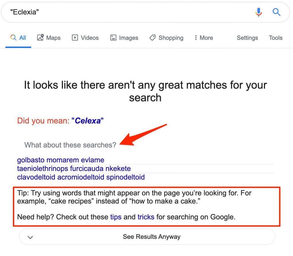 Google: nuovi suggerimenti di ricerca quando non riesci a trovare ciò che vuoi