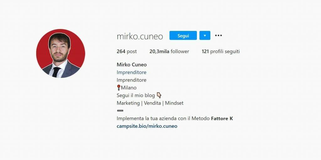 instagram marketing - ottimizzazione del profilo