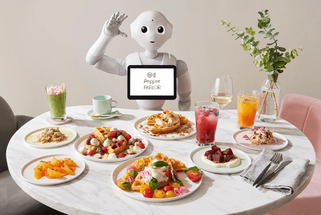 La nuova caffetteria gestita dai Robot di SoftBank servirà waffle ai clienti