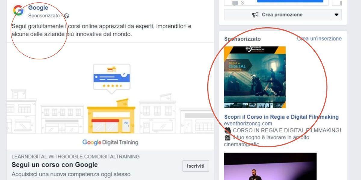 pubblicità su internet - campagne facebook