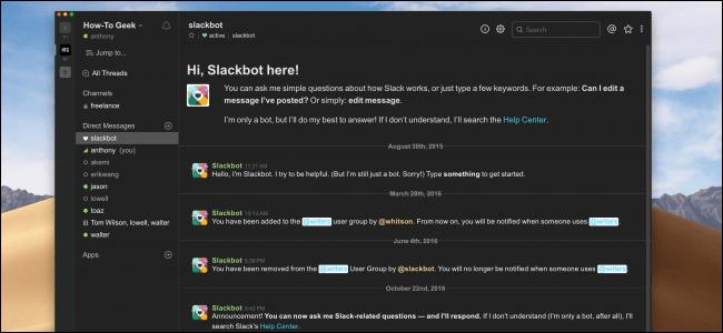 Slack: arriva la modalità scura per la versione desktop del software