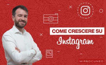 come crescere su instagram