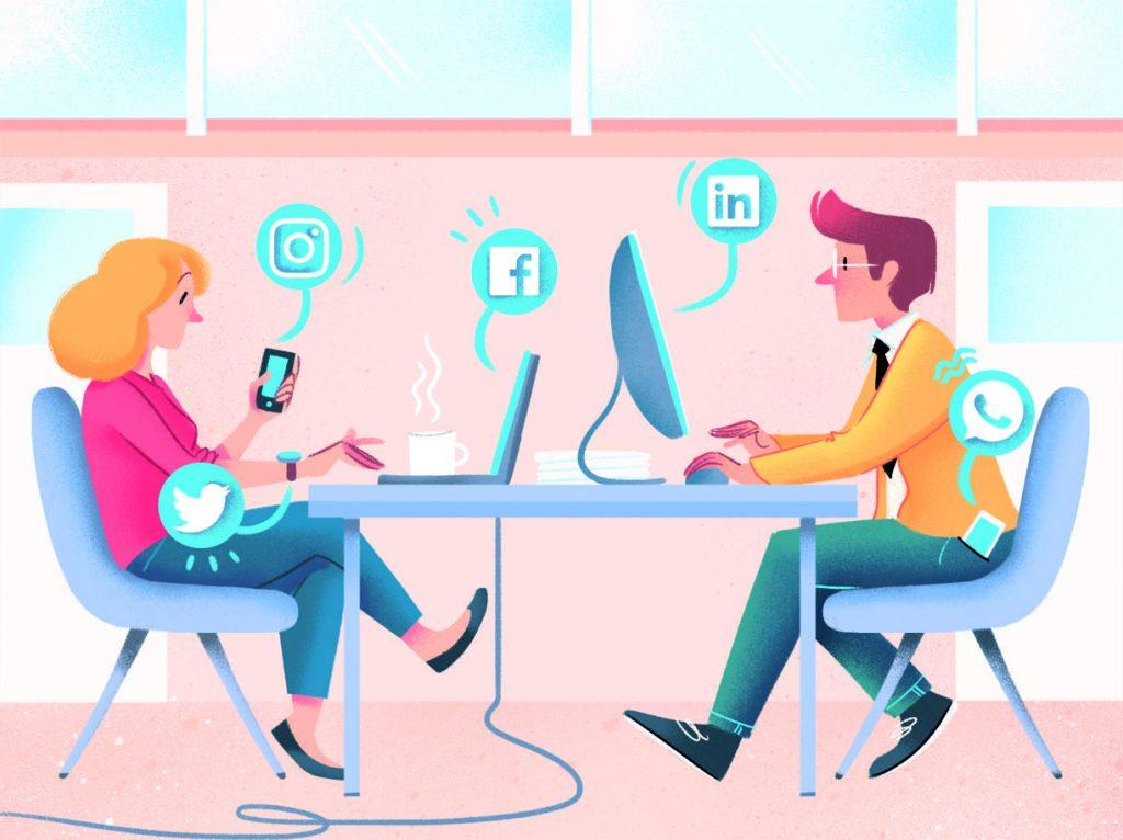 I social network durante la quarantena