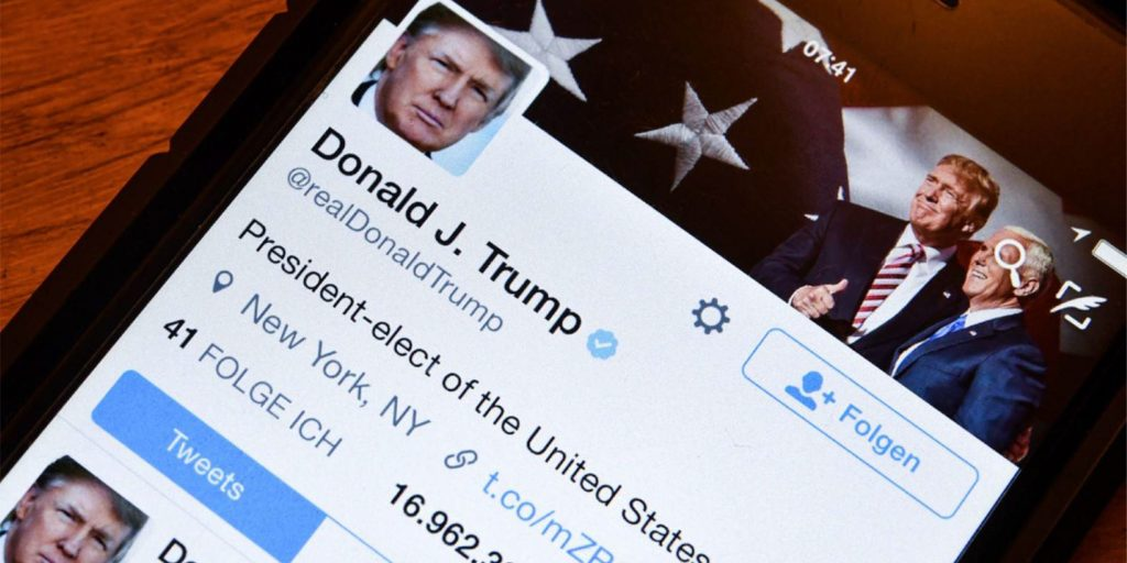 account twitter Trump