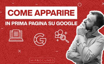 come apparire in prima pagina su Google