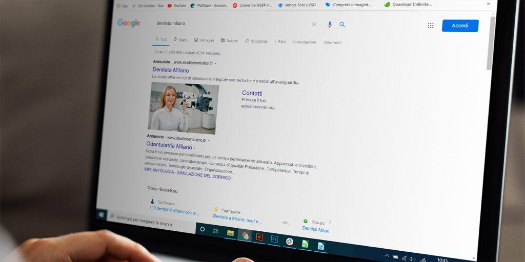 come pubblicizzare uno studio dentistico su Google